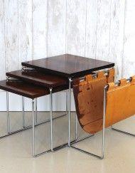 Vintage mid century nesting tables Brabantia - www.bijCharlie.nl
