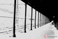 1975 Estación y ferrocarril en Canfranc. Productor: Sancho Ramo, Gerardo Ayuntamiento de Zaragoza. Archivo Municipal
