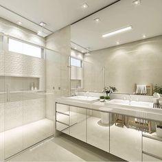 Que sonho  banheiros cleans é outro nível  por Carol Cantelli ✨ @decorcriative