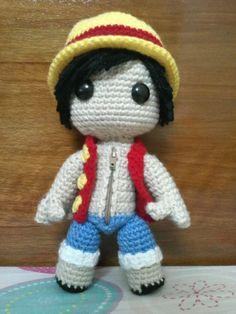 Luffy sackboy doll (One Piece) by ~NVkatherine on deviantART