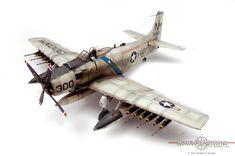 Tamiya scale model A1-H Skyraider by Vince Pedulla. #aircraft #military