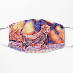 'Cheetah cub' Mask by Juaco Cheetah Cubs, Spandex Fabric, Snug Fit, Cuff Bracelets, My Arts, Art Prints, Beads, Printed, Awesome