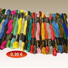 Κλωστές κεντήματος . σε διάφορα χρώματα 0,30 €-Ευρω Art Supplies, Diy, Bricolage, Do It Yourself, Homemade, Diys, Crafting