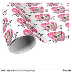 Boss Lady White Wrapping Paper