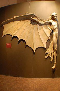 Da Vinci Exhibit - Hybrid, sculpture based on Da Vinci's drawings Arte Fashion, Fashion Dolls, 3d Prints, Dark Art, Oeuvre D'art, Art History, Sculpture Art, Amazing Art, Fantasy Art