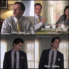 Neal and Peter and the Sheriff Star. White Collar Quotes.