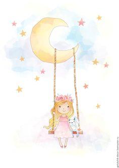 Купить Детские постеры - комбинированный, постер в детскую, постер для детской, подарок малышу, подарок на выписку