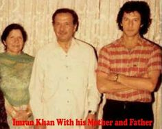 Imran Khan with his Mother and Father Imran Khan Pakistan, Pakistan Zindabad, Mahira Khan Pics, Imran Khan Cricketer, Fatima Bhutto, History Of Pakistan, Great Leaders, Muhammad Ali, Historical Pictures