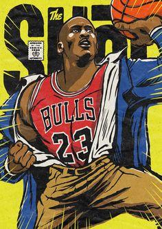 Foot Locker's Illustrated Tribute to Michael Jordan on Behance