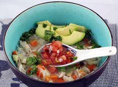 delicious german-guatemalan chicken soup with avocado, cilantro & pico de galle. #latinoaleman