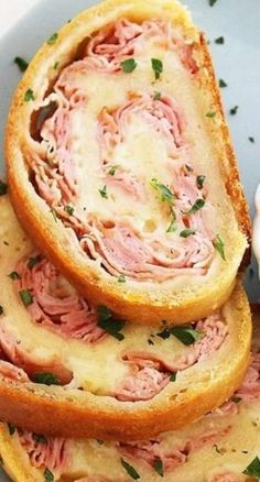 3-Ingredient Baked Ham and Cheese Rollups- big hit with John and Jack! I'll try one with turkey for Danny. by nell