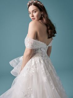 An exquisite off-the-shoulder princess bridal gown for the modern bride designed by Maggie Sottero. Find your one-of-a-kind wedding dress today! Maggie Sottero Wedding Dresses, Dream Wedding Dresses, Bridal Dresses, Blush Gown, Princess Bridal, Plus Size Wedding, Bridal Boutique, Wedding Portraits, Lace Dress