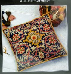 Needlepoint KIT William Morris Cushion Anchor Tapestry by CLGifts, $79.99