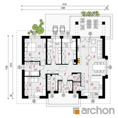 Dom pod jarząbem 15 (T) Best House Plans, Good House, Floor Plans, How To Plan, Projects, Houses, Log Projects, Homes, House