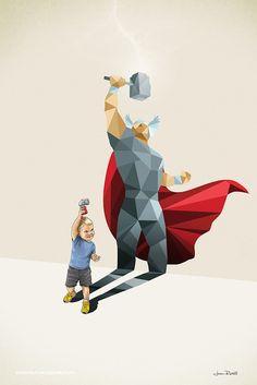 Les enfants ne jouent pas aux super-héros...ils le sont !