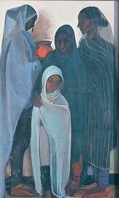 Amrita Sher-Gil hill-women-1935