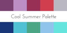 I am not exactly summer skin tinemore winter, but I can wear the icy colors and deep jewel color analysis cool summer palette Cool Skin Tone, Cool Tones, Summer Skin, Soft Summer, Summer Winter, Winter Colors, Summer Colors, Cool Summer Palette, Seasonal Color Analysis