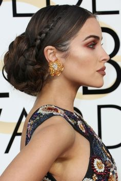 15 stunning beauty looks from the Golden Globes 2020 - See the most glamorous hair and make-up from the first awards show of the year - Wedding Guest Hairstyles, Bride Hairstyles, Greek Hairstyles, Fashion Hairstyles, Updo Hairstyle, Wedding Updo, Celebrity Hairstyles, Hairstyles Haircuts, Hair Inspo