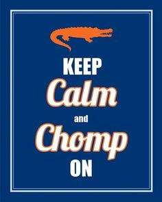 Orange and Blue .. LET'S GO GATORS!