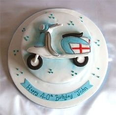 lambretta scooter birthday cake from sugarlicious ltd