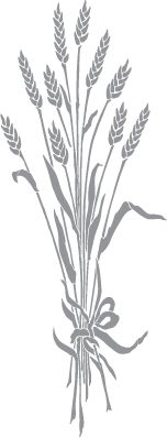 Wheat Stalks Tied with Ribbon. I'm going to Batik this to hang on my door for Mabon! <3