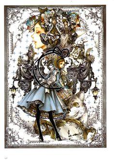 Tags: Alice In Wonderland, Scan, Tukiji Nao, Nao Tsukiji Illustrations - NOSTALGIA
