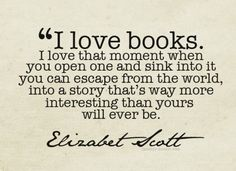 I love books too