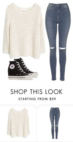 """""""23"""" by val-v ❤ liked on Polyvore featuring MANGO, Topshop and Converse"""