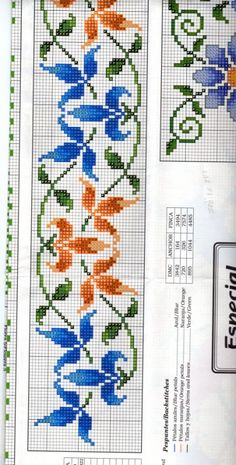 Gallery.ru / Фото #20 - 2 - Chispitas Beaded Cross Stitch, Cross Stitch Rose, Cross Stitch Borders, Cross Stitch Flowers, Cross Stitch Designs, Cross Stitching, Cross Stitch Patterns, Embroidery Patterns Free, Beaded Embroidery