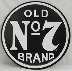 Jack Daniels Sign Old No. 7 Round Vintage Bar Advertising Tin Metal Made in USA | eBay