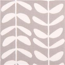 grauer Canvas Zitrus Baum Stoff Kokka Japan - Blumenstoffe - Stoffe - kawaii shop modeS4u