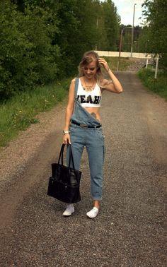 Nani Karoliina - Be yourself : Niin se haalari Dungarees, Overalls, Street Art, Street Style, Pinafore Dress, Street Fashion, Mom Jeans, Pants, Dresses