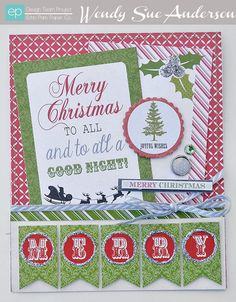 Merry Card from Tis the Season Collection. #echoparkpaper