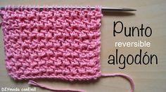 Cómo tejer punto algodón reversible dos agujas paso a paso Tunisian Crochet Stitches, Knitting Stiches, Knit Crochet, Crochet Hats, Crochet Designs, Knitting Designs, Knitting Patterns, Crochet Videos, Knit Fashion