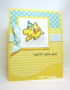 Happy Bird-day by ltecler - Cards and Paper Crafts at Splitcoaststampers