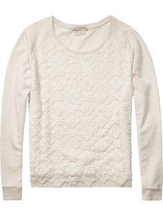 Sweater met kanten inzet |Sweat|Dameskleding bij Scotch & Soda