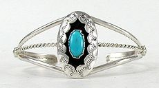 Hand made Native American Indian Jewelry; Navajo Sterling Silver Baby bracelet