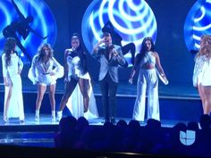Fifth Harmony performing with Maluma