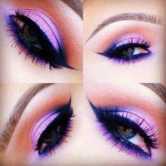 Tips and Smart Tricks for Easy Beauty Hacks Want to totally change your beauty routine? Then these tips and tricks are exactly what you need. Everyone loves finding a new beauty hack, that's why we've made Pretty Makeup, Love Makeup, Makeup Looks, Purple Makeup, Makeup Stuff, Gorgeous Makeup, Colorful Makeup, Purple Hair, Eye Makeup Tips