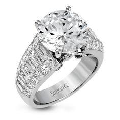 MR2711-Simon G. white gold and diamond simon set engagement ring