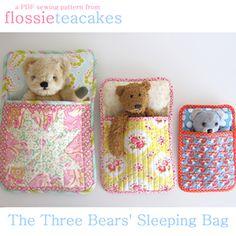 Three Bears Sleeping Bag ~ Flossie Teacakes PDF Sewing Pattern