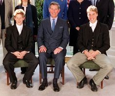 Prince Charles (middle) and Prince William (right) attend the confirmation of Prince Harry at Eton College in 2000 as we celebrate William's birthday Prince William Kids, Prince Henry, Prince Andrew, Prince Charles, Lady Sarah Chatto, Prince Harry Pictures, Photos Of Prince, Lady Sarah Armstrong Jones, Happy Birthday Prince