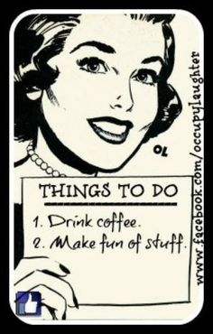 Vintage Coffee Poster | The Short List of Things To Do | #VintagePosters