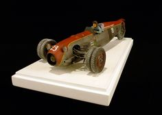 Dieselpunk racer vehicle. Titled: Salt Flat Racer by Jason Eaton. Pinned by #relicmodels