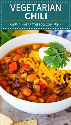Vegetarian Appetizers, Vegetarian Chili, Vegetarian Recipes Easy, Vegetable Recipes, Beef Recipes, Whole Food Recipes, Cooking Recipes, Healthy Recipes, Healthy Dinners