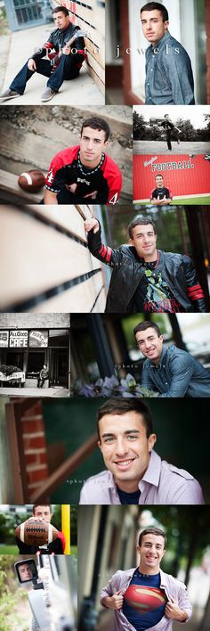 Senior Picture Ideas for Guys | Sports | Football | Music | Electric Guitar | Football | Superman #photography