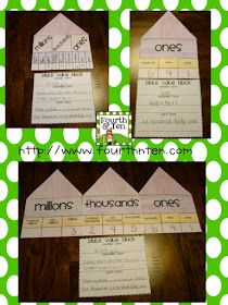 Fourth and Ten: Place Value Block {A Math Craftivity}