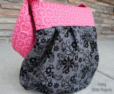 sling tote tutorial from crazy little projects - This looks so easy!!! Mom!!! Can we make one!?!?!?
