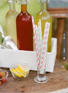 stripped straws   CHECK OUT MORE IDEAS AT WEDDINGPINS.NET   #weddingfood #weddingdrinks