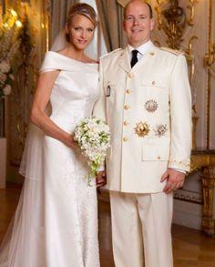 Charlene & Albert wedding portrait